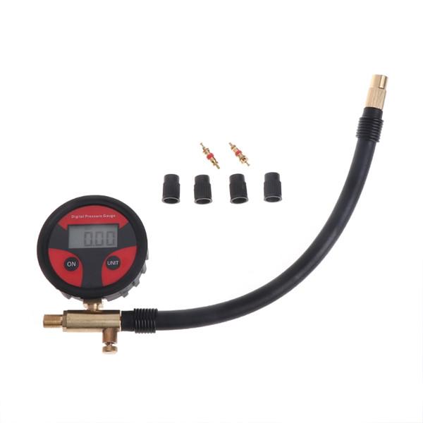 Vente en gros 0-200PSI Numérique Tire Pneumatique Manomètre LCD LCD Manomètre Voiture Camion Moto Feb20 Drop Ship