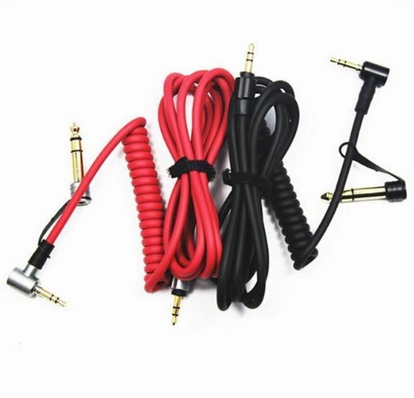 Resorte de alta calidad de 3.5 a 3.5 / 6.5mm para grabar el cable de audio de calidad superior dos uso del cable de audio de resorte 200pcs
