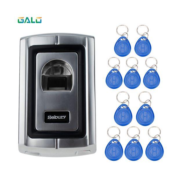 125KHz RFID Fingerprint Scanner Without Keypad Door Locks with Metal Case Fingerprint Access Control Controller Can Reader Cards