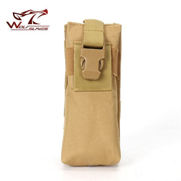 Tactical Military Hunting Molle Radio Walkie Talkie Belt Bag Outdoor Sports Water Bottle Canteen Pouch #751945
