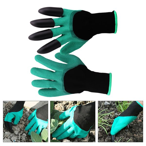 utdoor Hot Tubs Accessories Cleaning Tools Garden with Fingertips Claws Digging Planting Gloves Garden Working Cleaning Tools Rubber Glo...