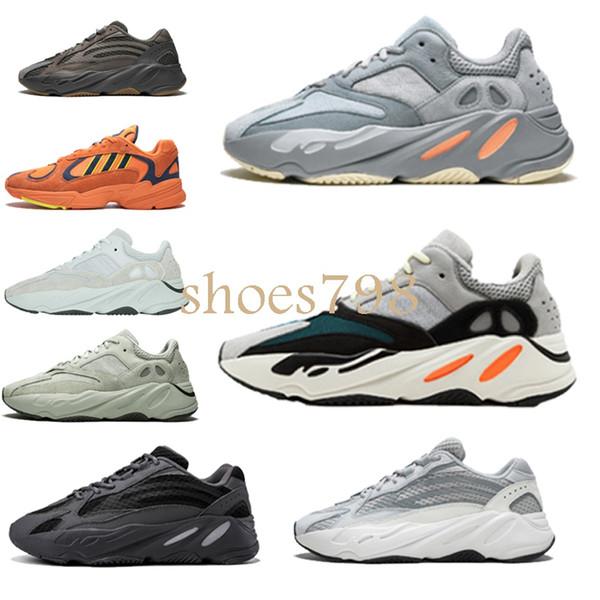 с коробкой 2019 лучшая дизайнерская обувь Wave Runner 700 V2 3M Kanye West обувь Mauve Salt Vanta мужчины