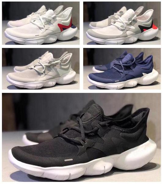 Alta calidad gratis RN 5.0 zapatos para correr para mujer para hombre zapatos 2018 tejido clásico ligero para correr al aire libre zapatillas deportivas deportivas