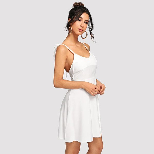 Women S Clothing Party Dresses Spring New Women's Dress Sexy Designer Dress Open-back Hollowed-out Lace Stitched Wing Sling Dress