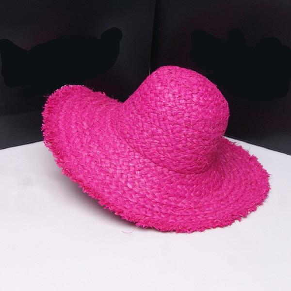 Summer Natural Foldable Raffia Sun Hat Crunch Wide Brim Straw Hats Women Beach Solid Cap Kids Sun Protection Caps