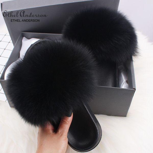 schwarze Fuchspelz