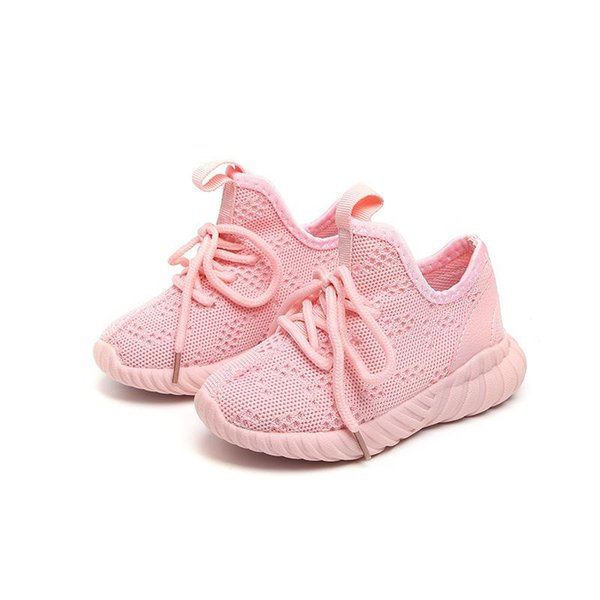 2018 Spring Autumn Children Casual Shoes Baby Girls Boys Sneakers Knitted Fabric Breathable Outdoor Student Running Shoes