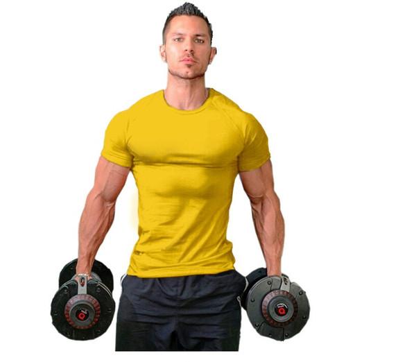 2019 новая мода популярный тренажерный зал Взрывоопасно мужской фитнес-жилет мужской мышечной мужской чистый хлопок фитнес с короткими рукавами футболки