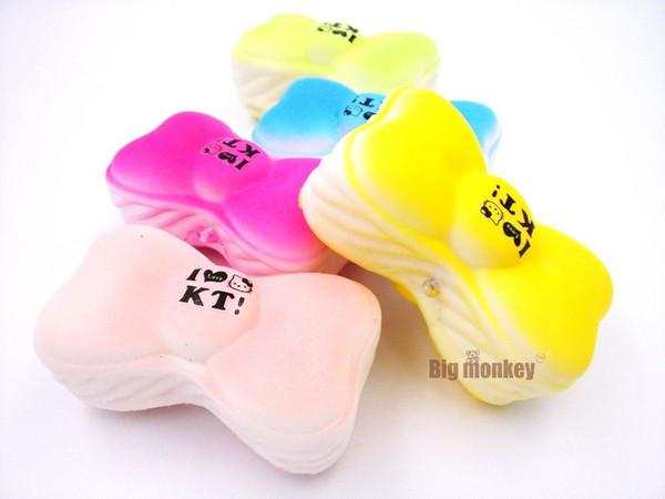 20pcs/lot 10CM jumbo kitty bow ice cream macaroon squishy cell phone charm