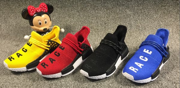 speical offer new arrive official Kids Human Sports Shoes For Kid Human Race Trainers Boys Pharrell Williams  Pour Enfants Chaussures Children Sport Shoe Youth Sneakers Kid Tennis Shoes  ...
