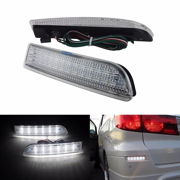 ANGRONG 2x Clear Lens Bumper Reflector LED Reverse Tail Brake Light For Toyota Avensis Estate / Tourer 09-15 (CA168)