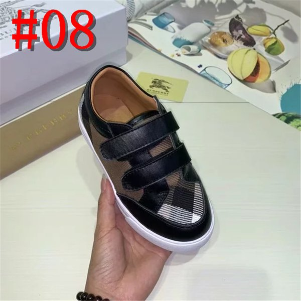 19ss Fashionable Autumn Baby Girl Boy Casual Shoes Retro Printing Bowknot Kids Flat Bottom Children Single Shoes Designer Brand