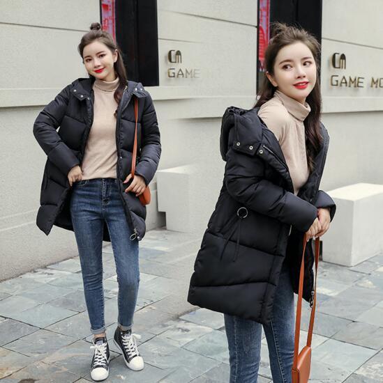 New fashion women's down jacket fashion long cotton jacket high quality luxury women's winter coat
