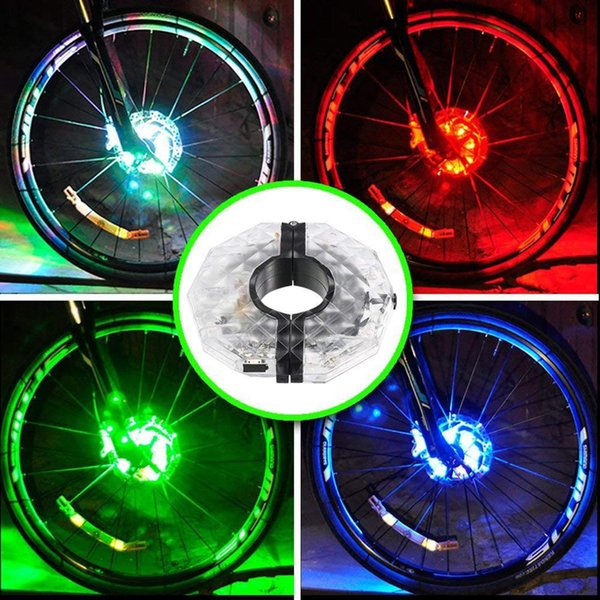 time up LED Lamp Continuous Lamp Wheel Bike Flash 12 Light Warning Decoration to Bicycle Drum IP55 working hours Flower
