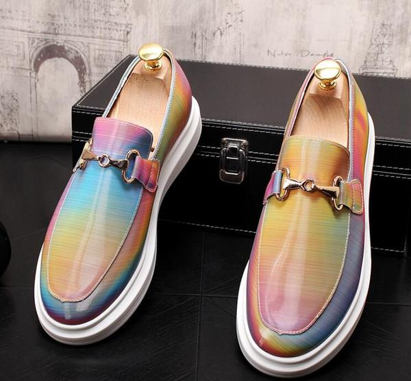 New Trending Designer Men Platform flats Shoes loafer shoes Men Homecoming Dress Wedding prom shoes for gentleman n44