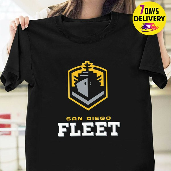 T Shirt Calciatore San Diego Fleet Black S 3xl