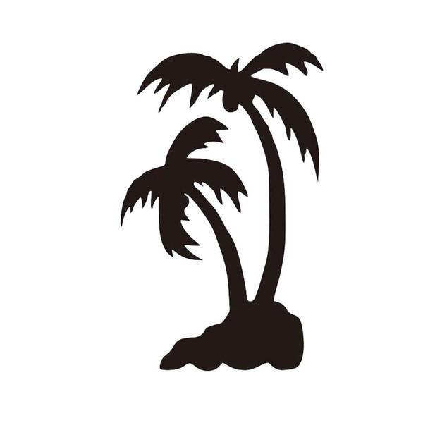 Palm Tree Set Car Decal Sticker Window Matte Black Bag Summer Paradise Hawaii Personality Accessories
