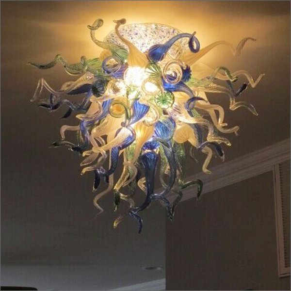 Art Deco Lighting Murano Hand Blown Glass Chandelier Dale Chihuly Classic Blown Glass LED Chandelier Pendant Lamps for Living Room Decor