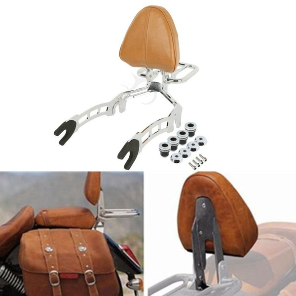 Motorcycle Sissy Bar Passenger Backrest + Mouting Spools For Scout 2015-2018 Sixty 2016-2018