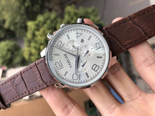 Estuche negro Reloj para hombre Deportes 50 mm Plata Negro Caucho Mecánico automático Izquierda U Relojes de pulsera