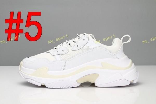 2019 Mode Paris Triple-S Sneaker Triple Casual Papa Schuhe für Männer Frauen Beige Schwarz Ceahp Sport Designer Schuhgröße 2a