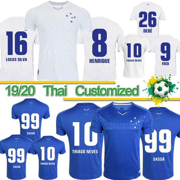Thai 2019 de football maillot CRUZEIRO 19 20 Brésil DE FRED ARRASCAETA ROBINHO THIAGO NEVES Maillot de foot chez l'homme Cruzeiro Club Brasil Camisas
