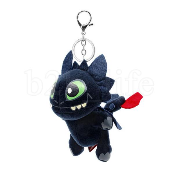 How to Train Your Dragon 3 Plush Doll Keychain 17cm Cartoon Anime Movie Toothless Stuffed Doll Key chain 20pcs OOA6442