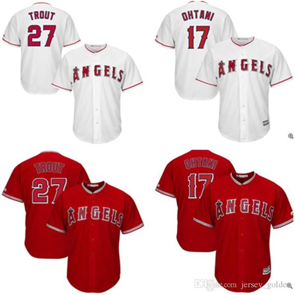 Los Angeles Angels of Anaheim Jersey Herren # 17 Shohei Ohtani 27 Mike Trout Baseball-Shirts Kostenloser Versand M-XXXL