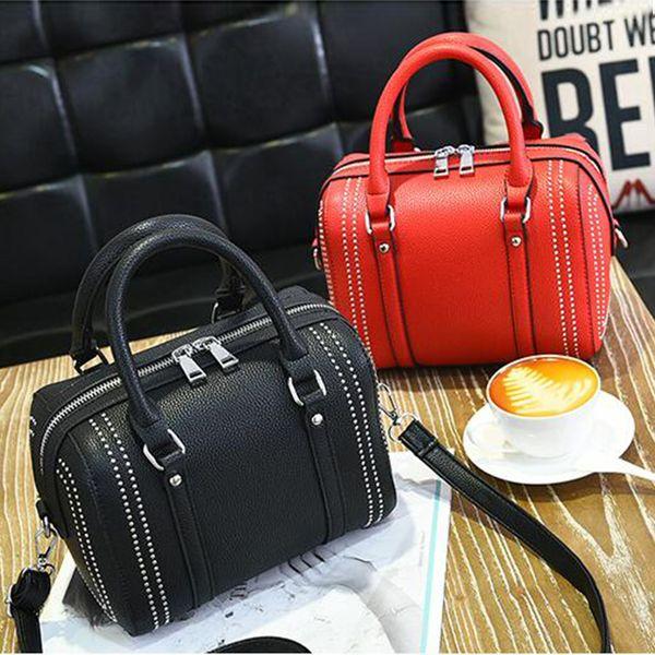 Заклепка женская сумочка Марка ведро Сумка сумки на ремне, женские сумки дизайнер Модная женская сумка Bolsa Feminina 2019