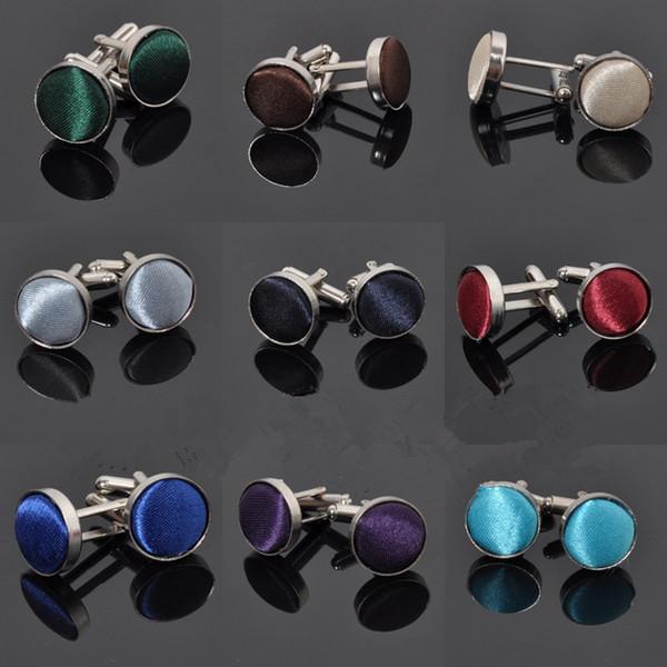 H: HYDE 18 Renkler Moda Takı gömlek erkek için kol düğmeleri Marka manşet düğmeleri Yüksek Kalite 18 renkler Kol Düğmeleri