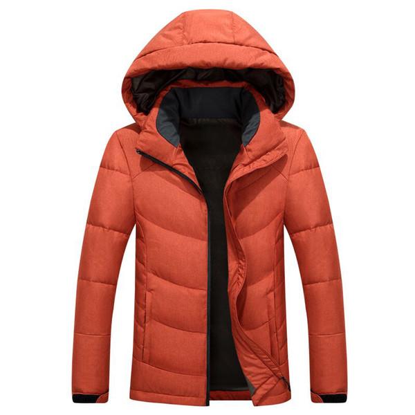 N F hommes -T9019-whiteiswhite sport en plein air à capuche courte parka mince doudoune manteaux sport chaud homme costume de coupe-vent outwear