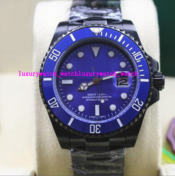 Luxury Wristwatch -new MENS STAINLESS STEEL Coating CERAMIC BLUE Dial #116610LN 40MM Mechanical Men Watches Top Quality