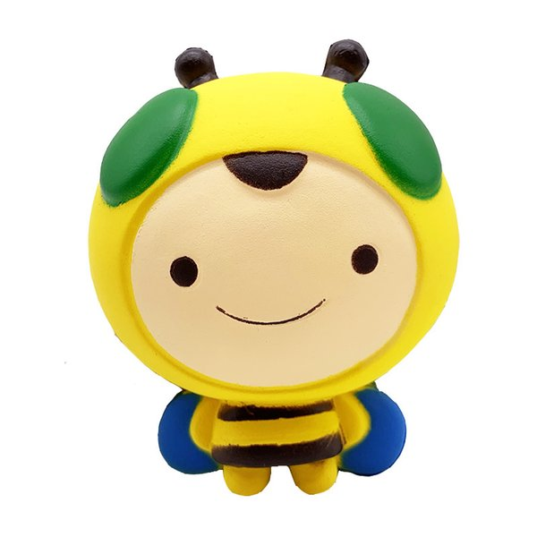 Squishy cute honeybee Slow Rising Soft Oversize high quality Squeeze toys Pendant Anti Stress Kid Cartoon Toy Decompression Toys