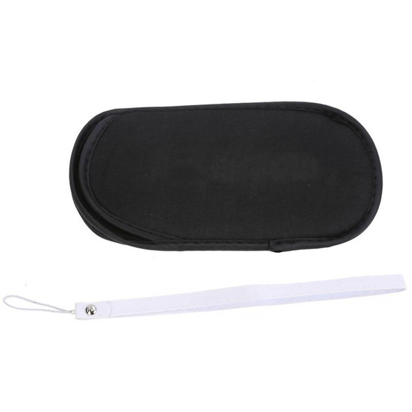 100pcs soft materials protective carrying storage bag pouch case+hand wrist lanyard for sony psp 1000 2000 3000