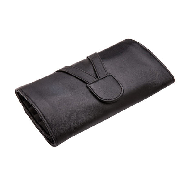 Hochwertige Make-up Pinsel Tasche 24/18/12 Slots Pouch Case Protector Kosmetik Fall PU Leder Rolling Bag