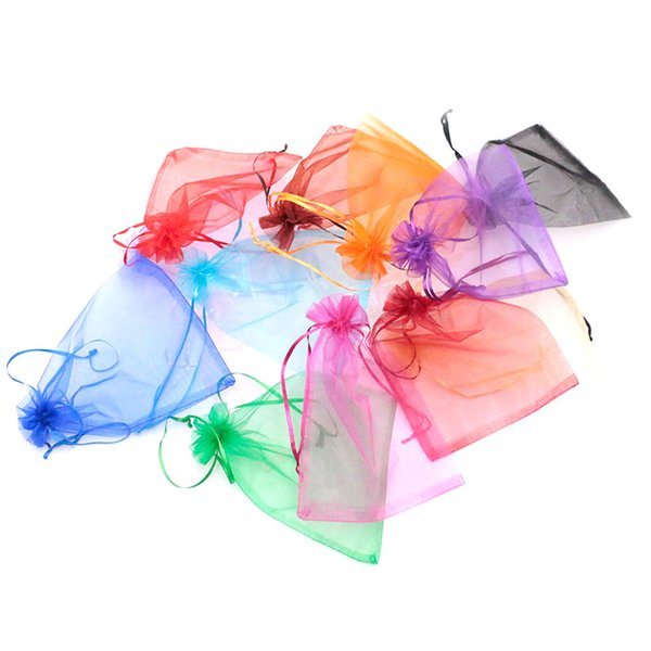 Multicolor 17X23CM Organza Bags Beautiful Gift Toys&Candy&Jewelry Packaging Storage Bags 200pcs/lot Can be Customized Cheap