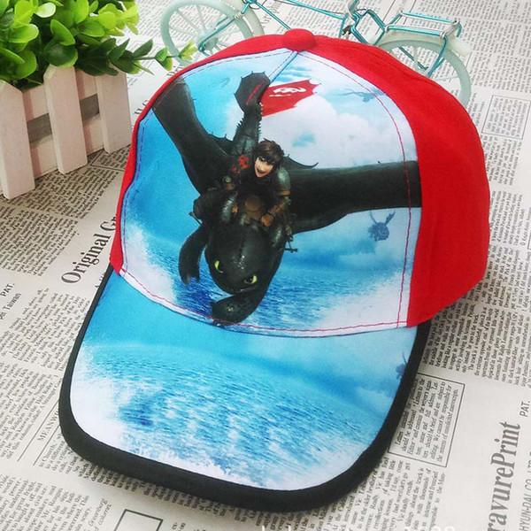 How to Train Your Dragon action figure toys Cosplay NightFury Baseball Cap Cute Cartoon Sun Hat For Children Boys C2