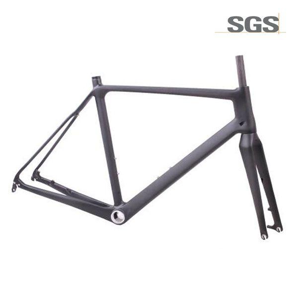 Karbon Di2 Bisiklet Cyclocross Çerçeve standart QR aks aracılığıyla Disk fren Bisiklet Yol Frameset 51.5 cm 54 cm 56.5 cm