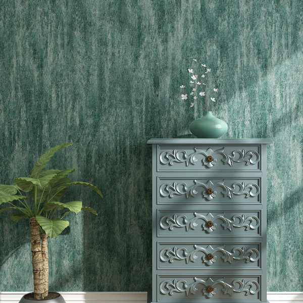 Style American Vintage Green Wall Papers Home Decor Waterproof Solid Color Leather Wallpaper Roll For Living Room Bedroom Walls