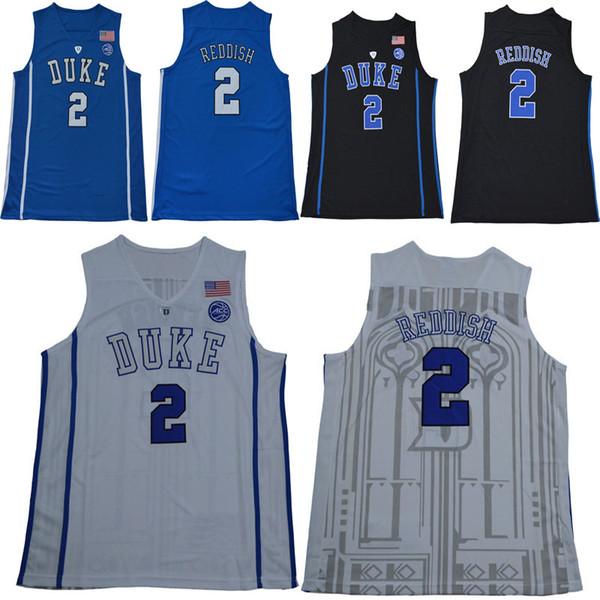 College hommes Duke Blue Devils maillots blanc noir bleu # 2 Cam rouge taille adulte maillot de basket-ball cousu mélanger ordre pour livraison gratuite