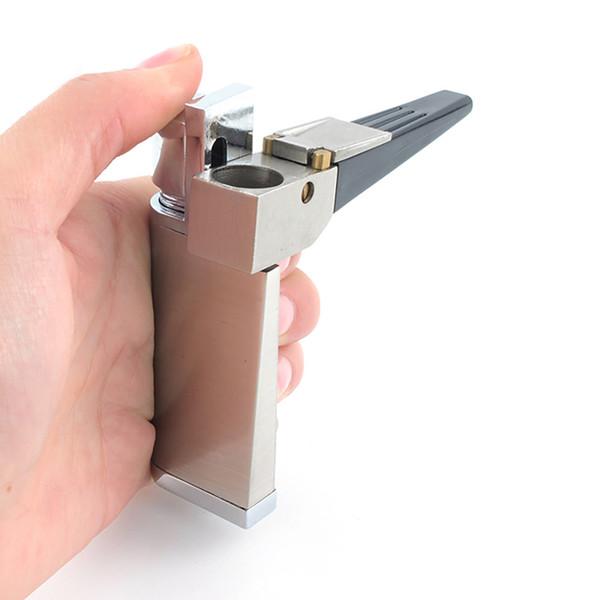 Accessori liberi fumatori fumo di pipa Tubi leggero tubo fumo metallo Tubi sigaretta di tabacco set con Accendino