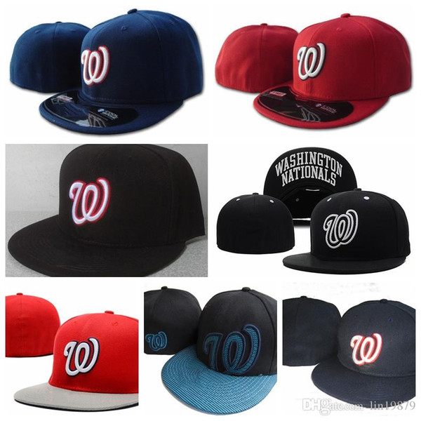 best selling Nationals W letter Baseball caps Bone Casquette Hip Hop for Men Women Gorras Chapeu Fitted Hats