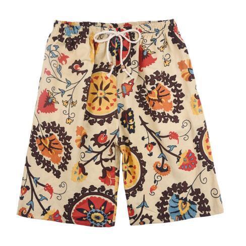 Лето новые мужские шорты печать мужские пляжные брюки повседневная Спорт фитнес пляж свободные большой размер быстросохнущие шорты