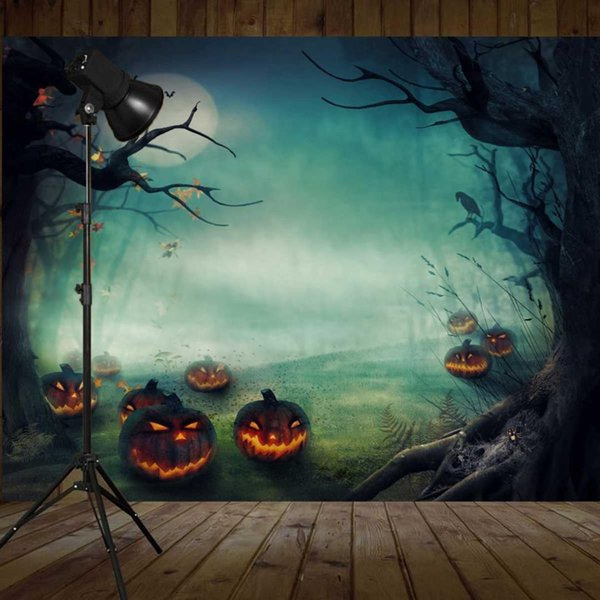 Freya Halloween Vinile Fotografia Sfondo Muro Sfondo Sfondo Studio fotografico Sfondo 5X7FT 150x210 cm