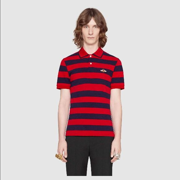 2019 High quality Luxury Shirt Print Short Sleeve Slim Fit Medusa T-Shirts Men Brand Designer Polos With Embroidery Bees Casual Polos