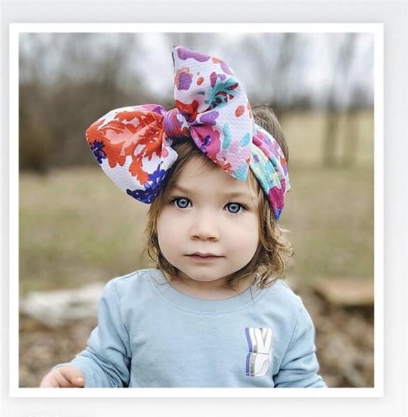 Big Bow Bandeaux Élastiques Bandeau Tête Accessoires de cheveux pour filles Head Wraps pour filles Top noeud Turban Bandeau Arc