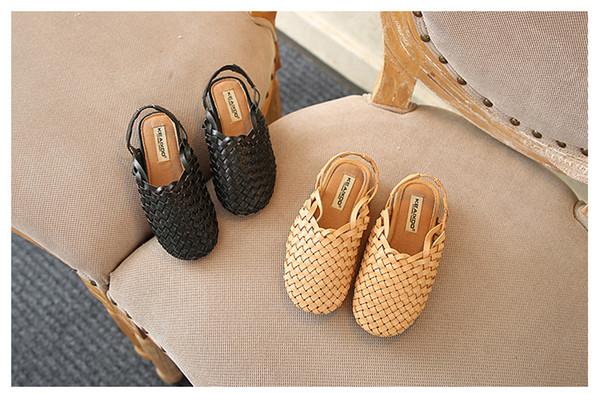 Yeni yaz kızlar sandalet çocuklar dokuma ayakkabı bebek sandalet çocuk ayakkabıları çocuk sandalet boyutu 21-33 ücretsiz kargo 2019
