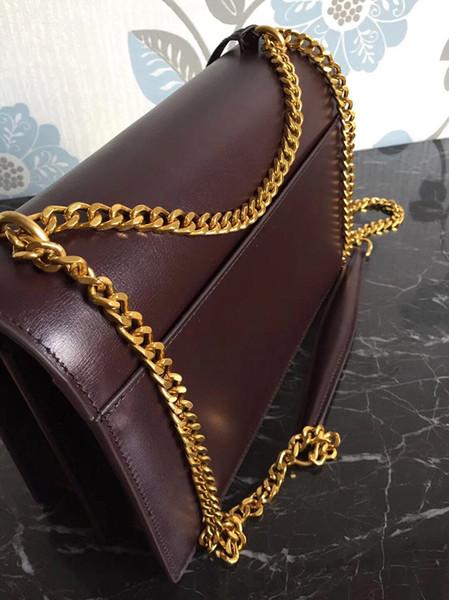 Burgundy Gold chain