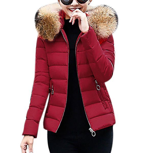 Ветровки женские зимние хлопковые мягкие куртки и пальто для женщин куртки Утепленные искусственного меха с капюшоном Короткий тонкий Outwear с капюшоном 9.7