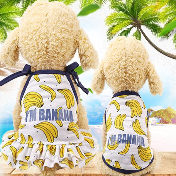 Small Dog Clothes for Chihuahua Poodle Beagle Yorkies Terrier Pug Dog Vest Puppy Skirt Lover Dress Spring Summer Pet Clothing